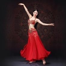 Bellydance oriental eastern Belly dance diamond embroidery dancing costumes clothes bra belt scarf skirt ring dress set 1087