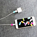 Venta caliente Super Suave de Silicona Protector de Ahorro Cable Del Cargador de Datos para apple iphone 4s 5 5s 6 plus teléfono cable de carga ec834