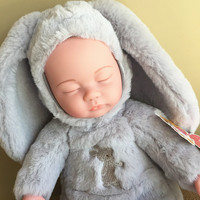 LONSUN 40CM Sleeping Baby Silicone Reborn Dolls Hobbies Stuffed Toys Accessories Bedtime Early Education Girl Toy
