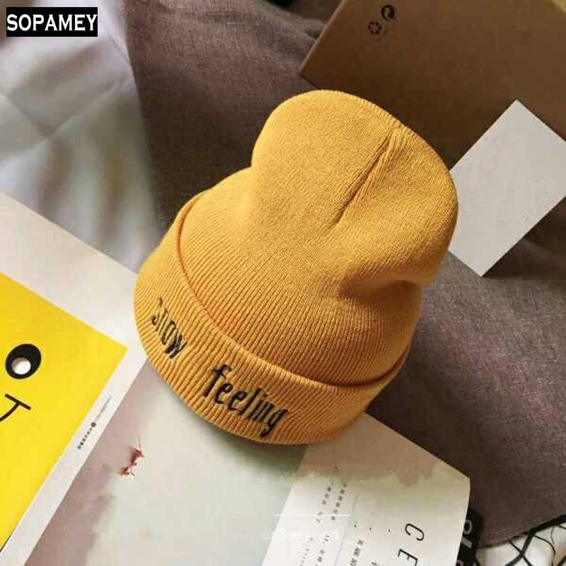 2017 Fashion Knitted Winter Hat For Women Men Beanies Caps Knitted Winter Skullies Beanies Thick Warm Caps Women Men Beanie Hat