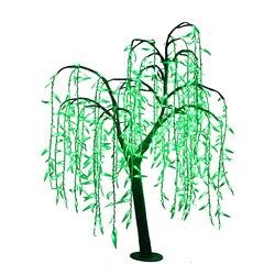 1,2 mt 4ft LED Willow Baum Licht 480 stücke LEDs Grün Farbe Regendichte outdoor Weihnachten neue jahr hochzeit party geburtstag decor