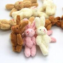 3 PCS Mini 6CM Cute Bunny Rabbit Baby Plush Toy Doll Stuffed Animals Toys Girl for Birthday Christmas Children Gifts