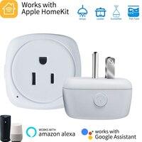 Timethinker 5Pcs Smart WiFi Socket US EU Homkit Plug for Apple Homekit Alexa Google Home Siri Voice Remote Control Vstarcam