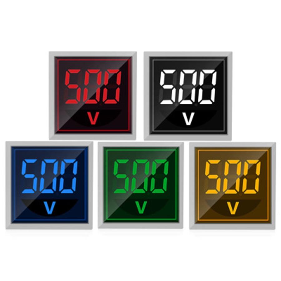 Цифровой автоматический мини-вольтметр ST17V 22 мм, светодиодный дисплей, индикатор прямоугольного напряжения 220 В, детектор напряжения переме...