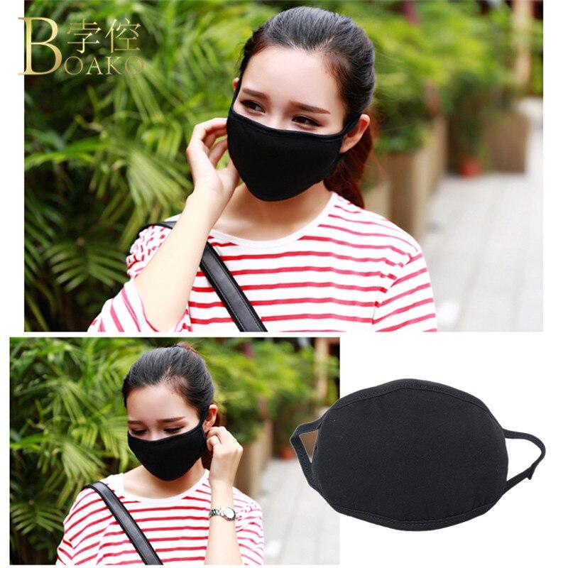50 Pcs 2018 Neutral Face Mask Cotton Mouth Mask Black Anti Haze Women Men Dust Filter Patient Bacteria Flu Health Care Masks R5F