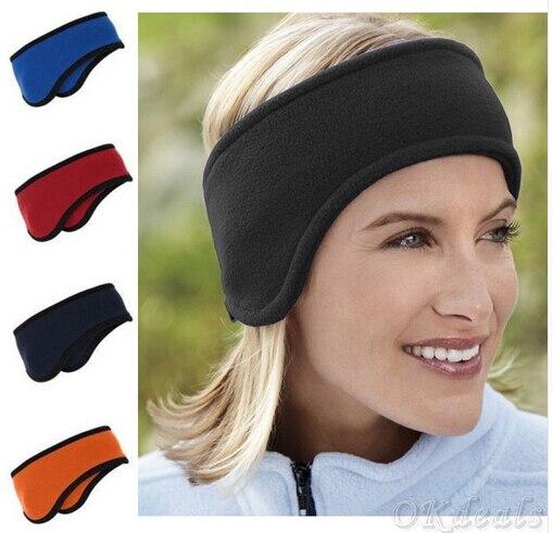 New Men Women Ear Warmer Winter Head Band Polar Fleece Ear Muff Unisex  Stretch Spandex b282626d62e