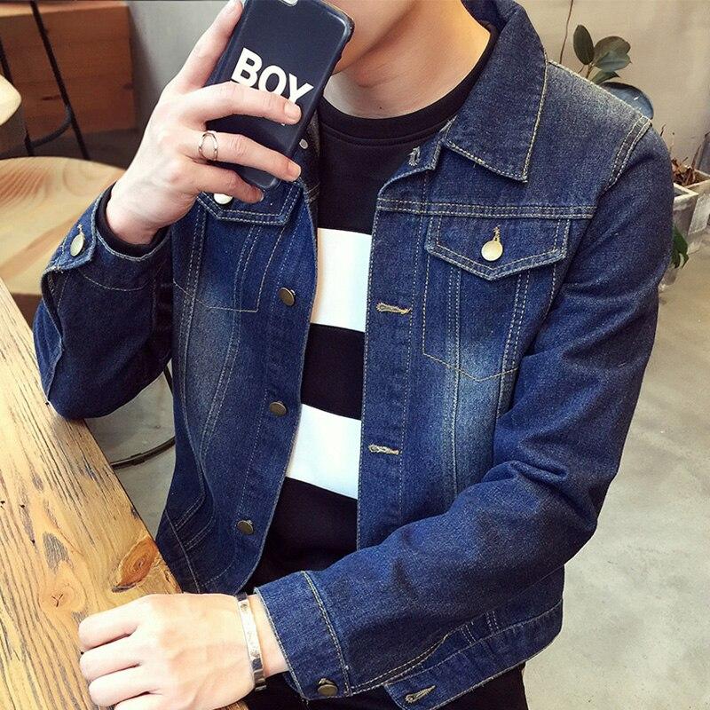 남성 자켓 2016 새로운 가을 패션 슬림 데님 자켓 청바지 남성 청소년