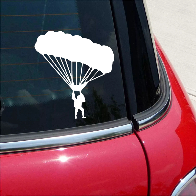 CS 1317 15 16 6cm Skydiver funny car sticker vinyl decal silver black for auto car stickers styling in Car Stickers from Automobiles Motorcycles