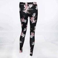 LASPERAL Mode Skinny Slim Moulante Sexy Taille Haute Épais Leggins Marque Nouveau Floral Imprimé Leggings Femmes Pantalon Femme Pantalon