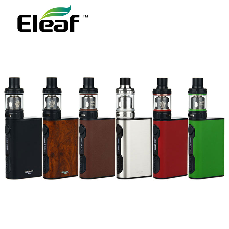 цена на Original 200W Eleaf iStick QC 200W Starter Kit 5000mah 3.5ml with MELO 300 Tank& 200W iStick QC Box Mod ES coils 0.17ohm