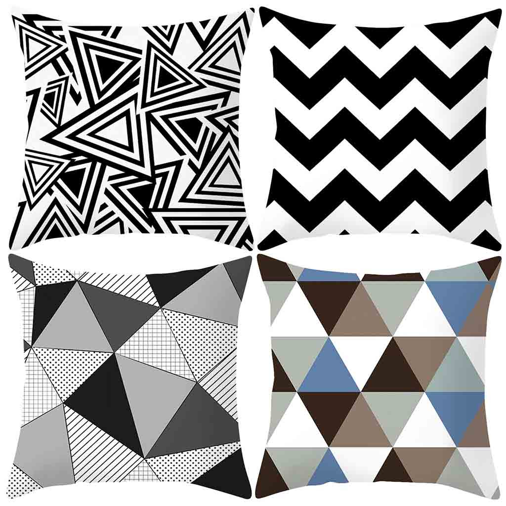 Gacsidy Store dakimakura Classical Geometric Wave Throw PillowCase Pillow case cover
