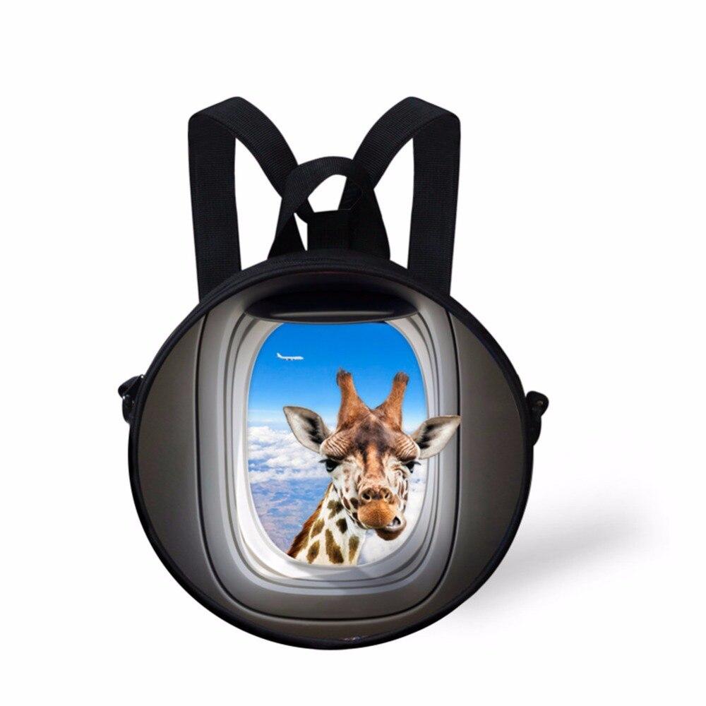 f68640ab6172 Noisydesigns круглый дизайн синий милый рюкзак для малышей Дети Довольно  маленьких мальчиков и девочек Школьный Рюкзак