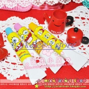 Freeshipping 20PCS/lot Cute Sponge Bob Ball Toothpaste Shape Ball Point Pen