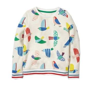 Baby Girls Sweatshirt Kids Long Sleeve Tops 100% Cotton 2017 Brand Winter Clothes Girls T shirts Hoodies Children Clothing 2-7T