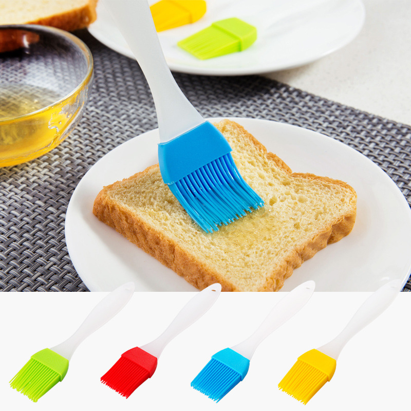 2PC/Lot Heat Resisting Silicone BBQ Basting Oil Brush High Temperature Resistant Cleaning Barbecue Baking Cooking