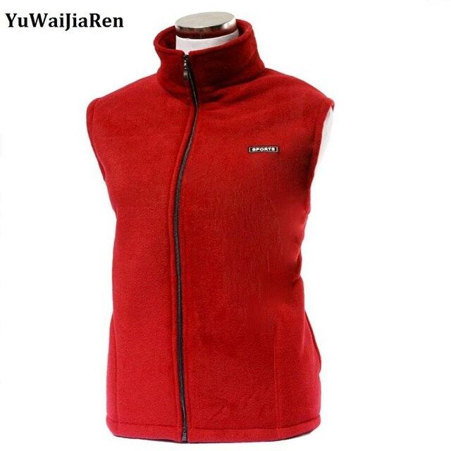 Men's and Women's Fleece Vest Outerwear Reporter Vests Sleeveless Jacket Windproof Thicken Warm Breathable Causal Waistcoat