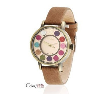 Free shipping  new arrive brand elegant vintage woman watch hour the sport dress bracelet watch girl cow leather strap