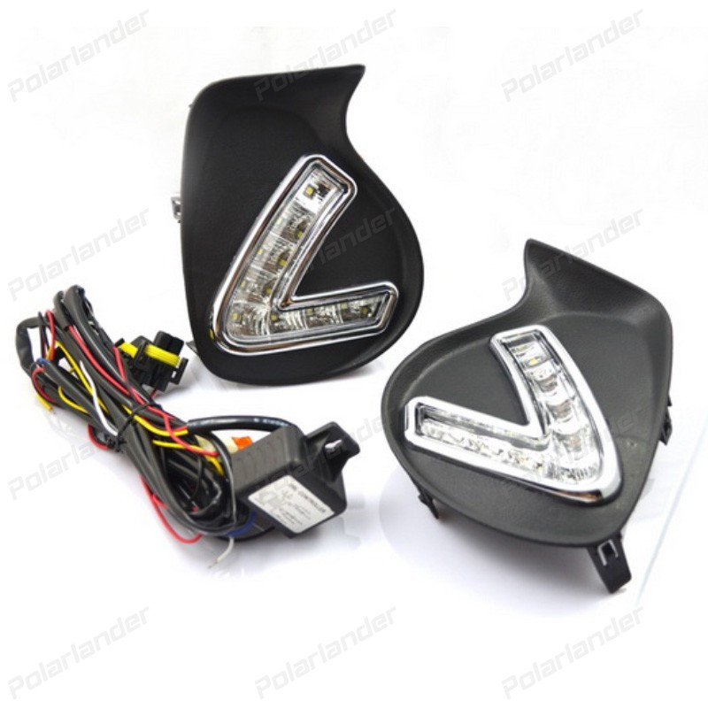 1 psir auto accessory Daytime running lights For L/exus C/T200H 2011-2013   car styling