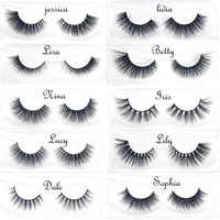 3D Mink Eyelashes Hand Made natural long black thin band stage lashes curl soft extensions wholesale Cruelty free Upper Lashes