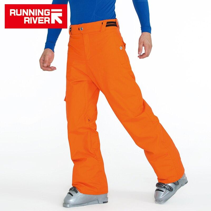RUNNING RIVER Brand Winter Men Ski Pants Size S - 3XL Waterproof Windproof Warm Snow Man Outdoor Sports Pants #T3171