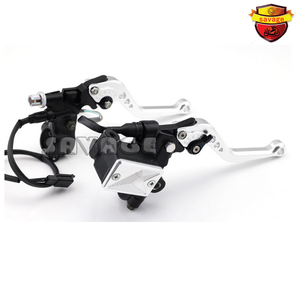 For YAMAHA YZF-R 125/150 YBR 125/250 WR 250F/450F ST250 SEROW Motorcycle Clutch Brake Master Cylinder Kit Reservoir Lever Sliver