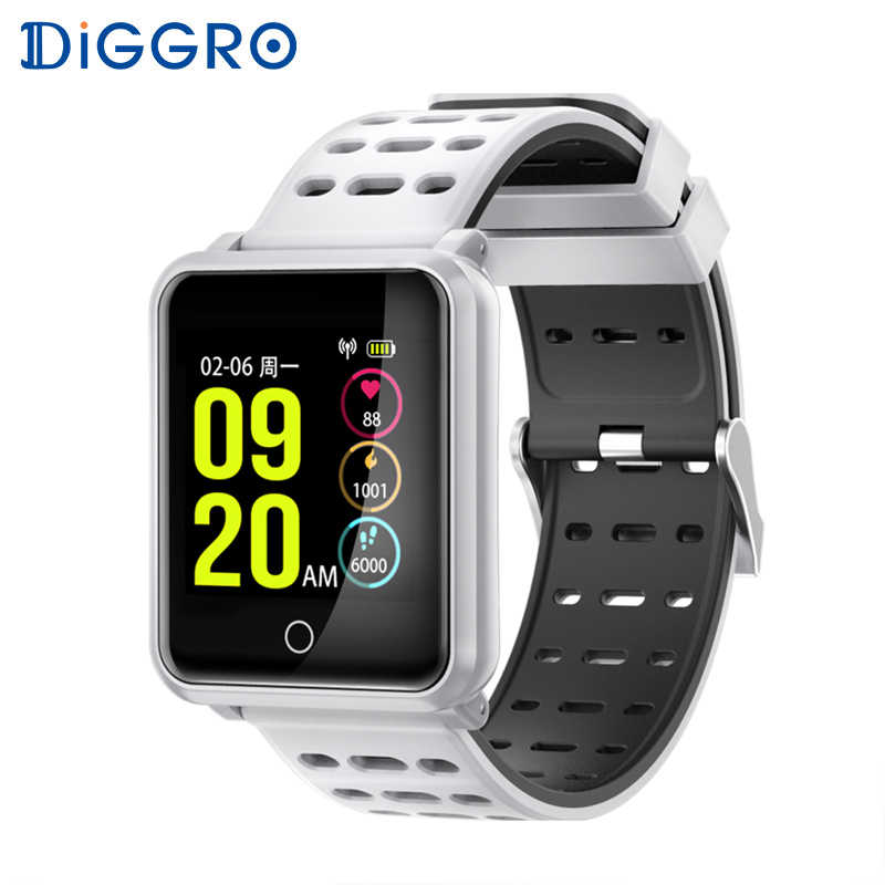 Diggro N88 Smart Watch Fitness Tracker IP68 Waterproof Heart Rate Blood Pressure Monitor Replaceable Bracelet For Android IOS
