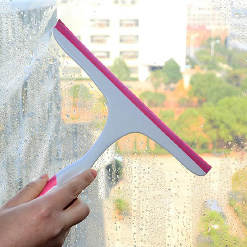 Window Squeegees Glass Cleaning Wiper Brush Eco-Friendly Soft Glass Scraper Glass Wiper Cleaner Helper Household Cleaning Tool