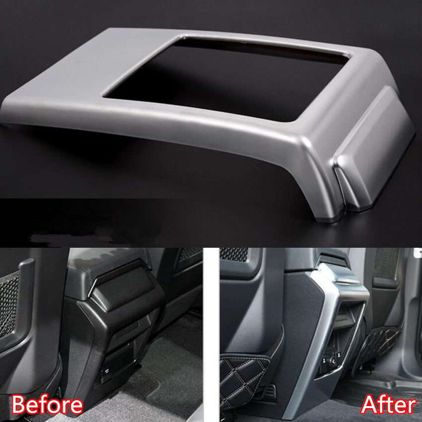 YAQUICKA Car Central Armrest Box Rear Panel Anti Kick Cover Frame Trim For Land Rover Discovery Sport 2015-2016 Car-covers yaquicka car central console gear shift panel frame trim styling cover for land rover discovery sport 2015 2016 accessories