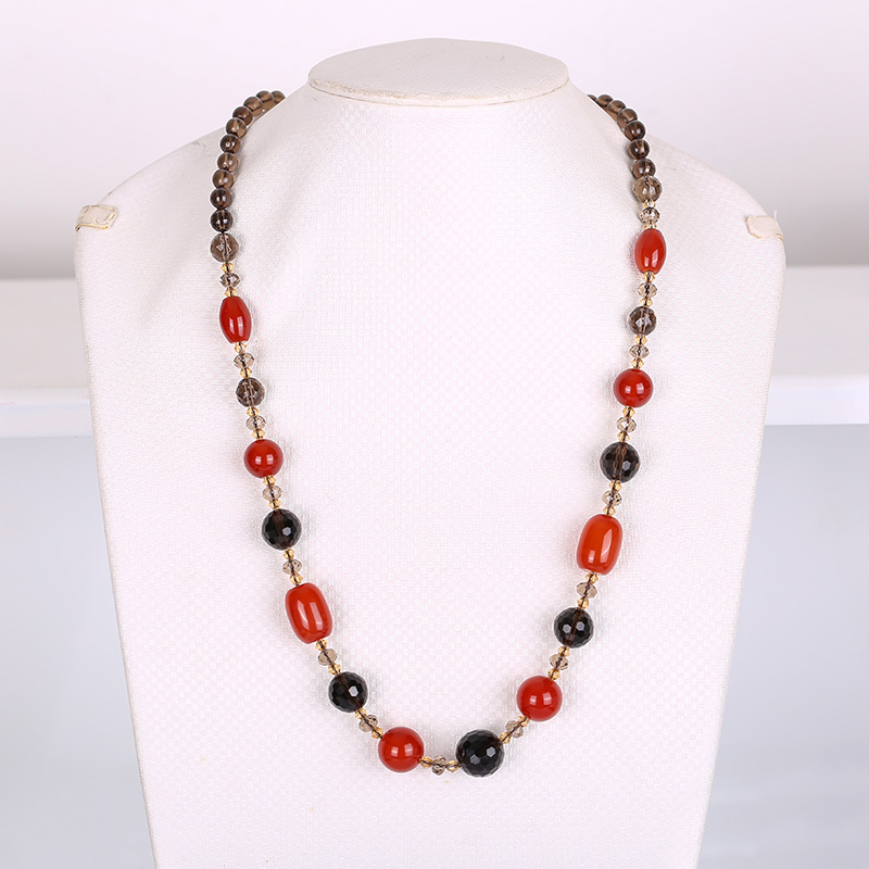 Natural crystal sweater chain long necklace female fashion wild autumn and winter delicate simple atmosphere authentic pendant Natural crystal sweater chain long necklace female fashion wild autumn and winter delicate simple atmosphere authentic pendant