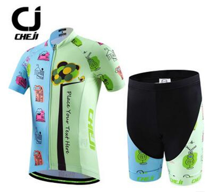 8f5436b35 CHEJI Short Sleeve Cycling Jersey Sets Ropa Ciclismo Kids Breathable  Cycling Clothing Children Summer Bicycle Bike Clothes-in Cycling Sets from  Sports ...