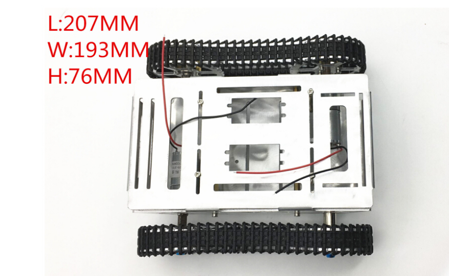все цены на JMT Metal Tank Chassis Model with 2 Motors 2wd Crawler Tracked Vehicle Caterpillar for DIY Mobile Platform Robot Arm Tracker
