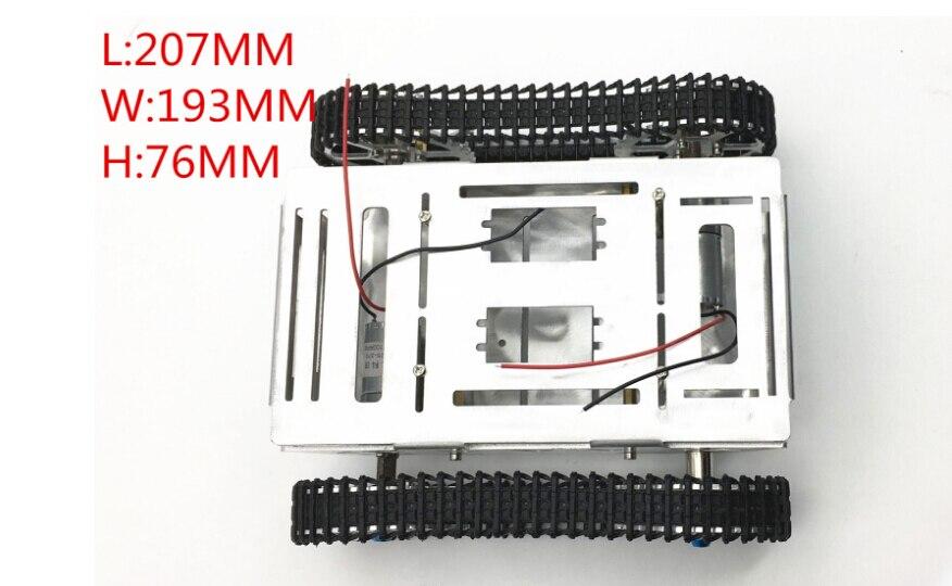 Modèle de châssis de réservoir en métal JMT avec 2 moteurs 2wd chenille de véhicule sur chenilles pour bricolage plate-forme Mobile