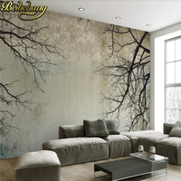 Beibehang Custom Photo Wallpaper Murals High Quality Vintage Minimalist Nordic Style Tree Branches Sky TV Backdrop