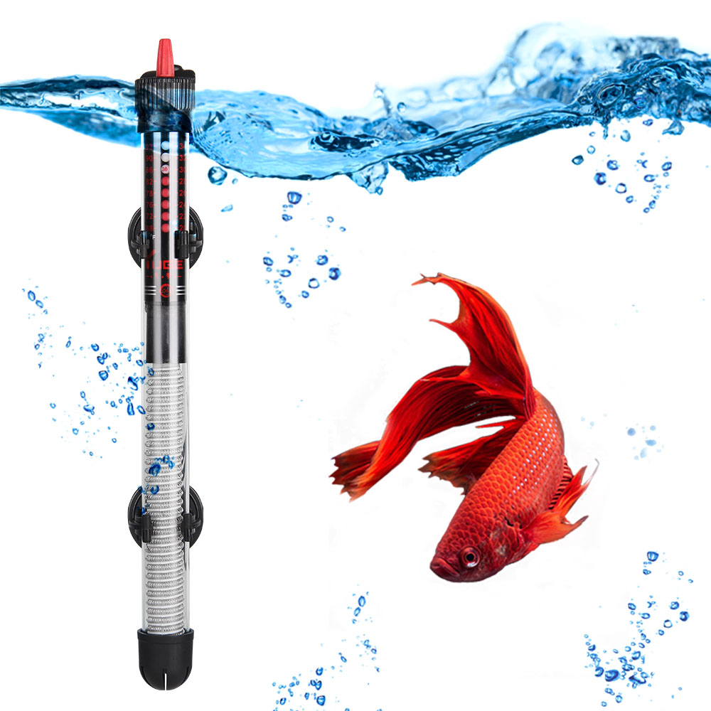 110v-220v YUGE Adjustable Temperature Thermostat Heater Rod 25W/ 50W/ 100W/ 200W/ 300W Submersible Aquarium Fish Tank Water Heat