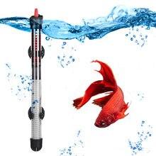 110v-220v yuge termostato aquecedor de temperatura ajustável haste 25w/50w/100w/calor submersível para aquário, calor submersível 200w/300w para aquário