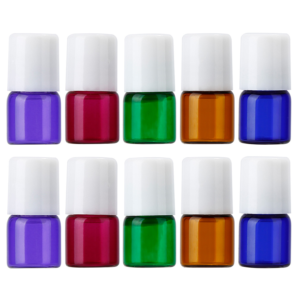 все цены на Aihogard 10PCs Empty Refillable Glass Mixed Color Roll on Bottle Container Essential Oil Glass Fragrance Portable Pot