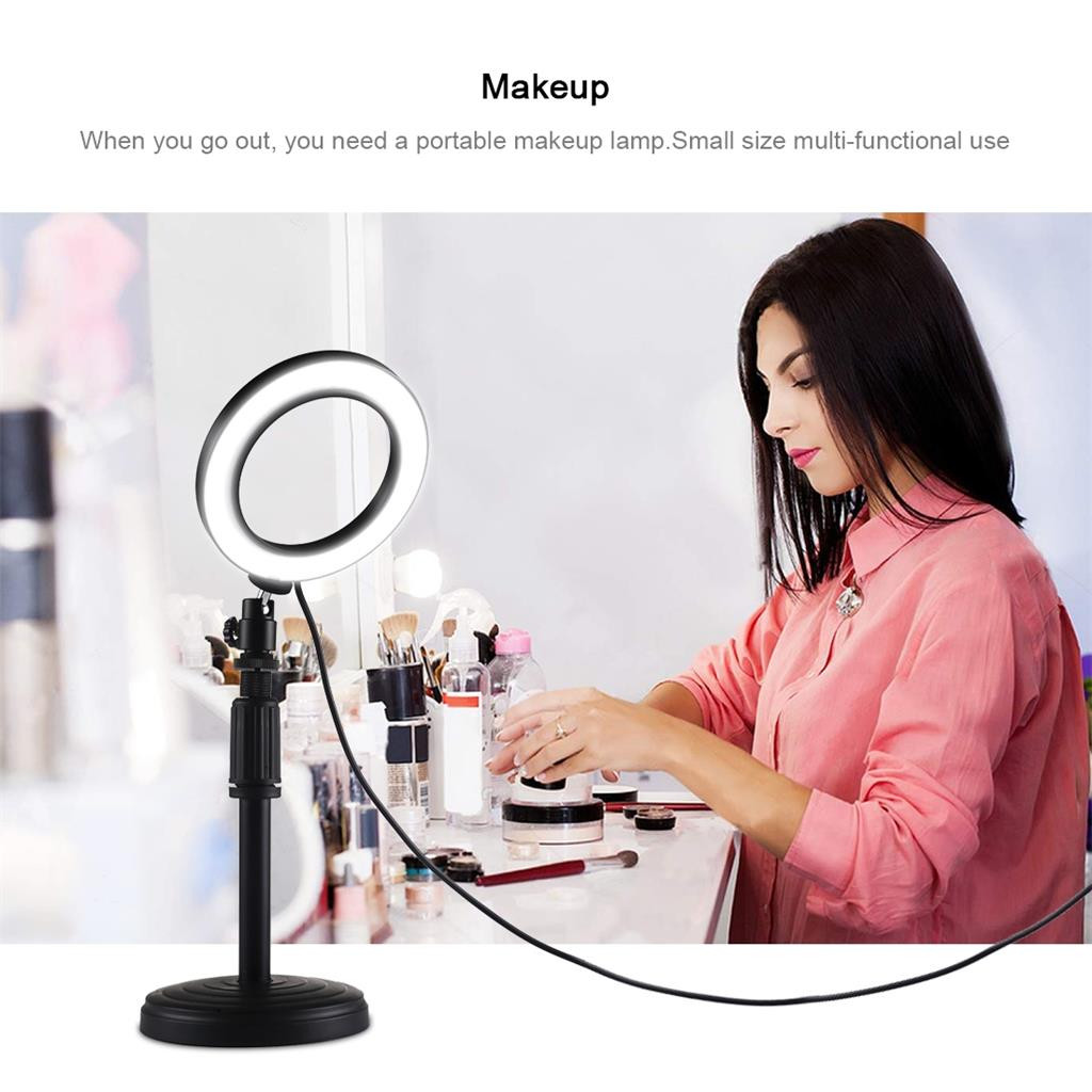 PULUZ Stand-Tripod Ring-Light Sefie Photo-Video-Lamp Hotography LED for Makeup Usb-Plug