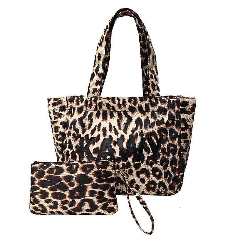5f46e60b2c Il Da Impermeabile leopard Viaggio Donne Print Per Borse Totes Delle Di  Nylon Del Tempo Libero ...