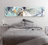 Large Size Long Abstract Creative Design Psychedelic Lines Canvas oil Painting Poster Wall Picture For Home Decor