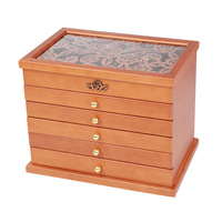 New Solid Wood Jewelry Box Gift Box for Jewelry Packaging Display Large Exquisite Makeup Case Luxury Jewelry Organizer 6 Layer
