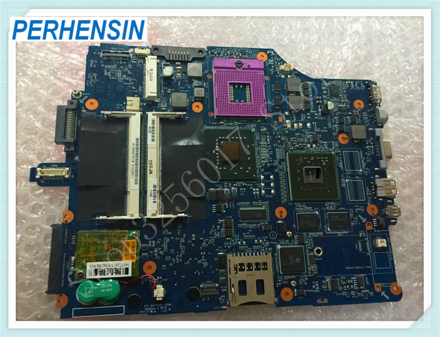 For Sony For VAIO VGN-FZ Series MBX-165 MS91 Laptop Motherboard REV:1.0 1P-0076500-8010 A1369750B M965 100% WORK PERFECTLY mbx 265 for sony svt13 motherboard with cpu i3 3217u 2gb memory pc motherboard professional wholesale 100