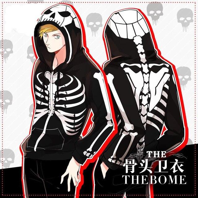 Street Fashion Symbol The Bones Punk Hiphop Skull Hoodie Jacket