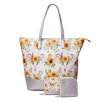 Sunflower Kate Spade Handbag Three Pieces Set Tote Bag With Matching Wallet And Card Holder DOM1031278