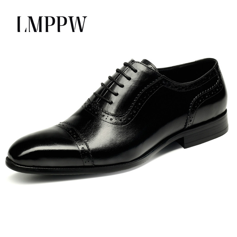 Genuine Leather Men Shoes Luxury Brand Design Gentleman Man Dress Formal Suit Footwear Italian Fashion Men Wedding Oxford Shoes цены онлайн