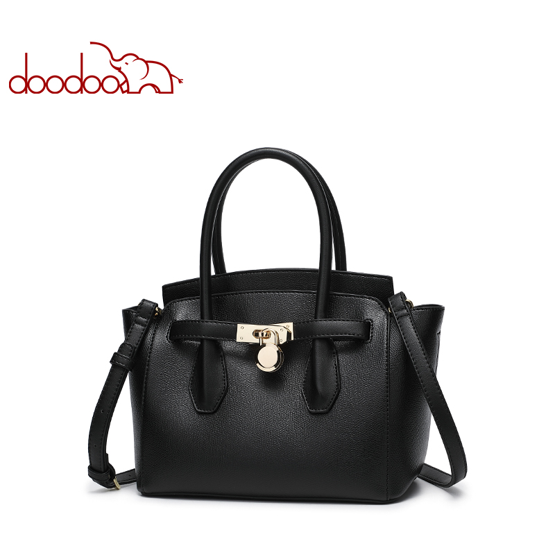 DOODOO Women Handbag Tote Bag Female Shoulder Crossbody Bags Ladies Artificial Leather Top handle Bag 2018