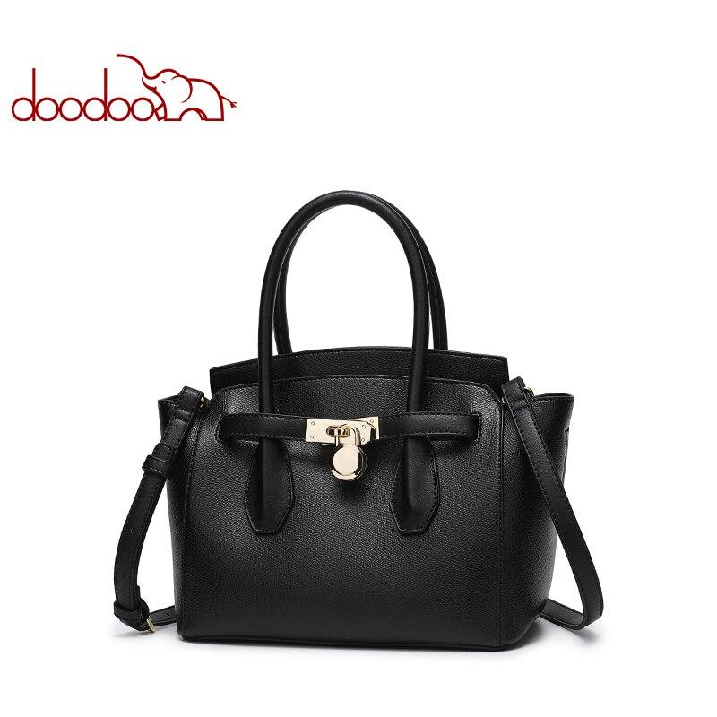 цена на DOODOO Women Handbag Tote Bag Female Shoulder Crossbody Bags Ladies Artificial Leather Top-handle Bag 2018 Newest Messenger Bag