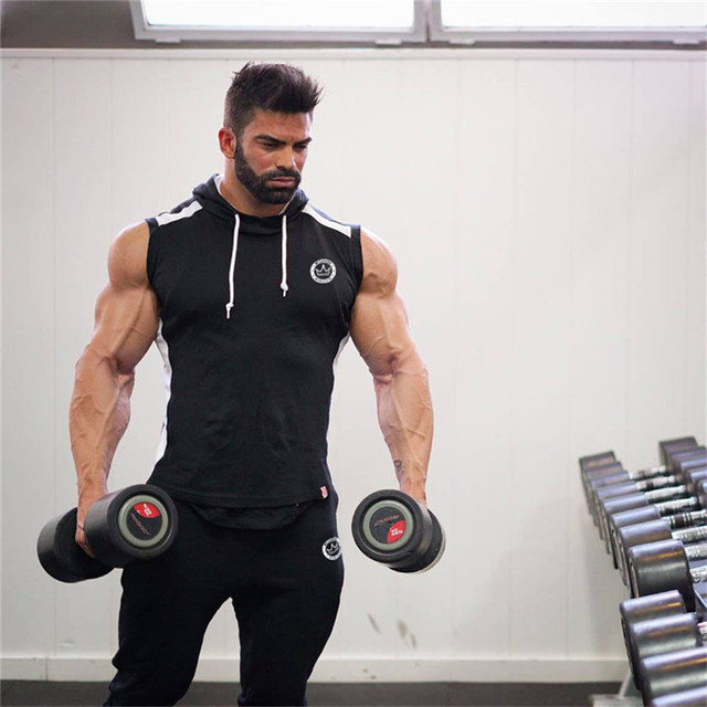 Hot 2018 Men Gyms Hoodies Gyms Fitness Bodybuilding Sweatshirt Crossfit Pullover Sportswear Mens Workout Hooded Jacket Clothing