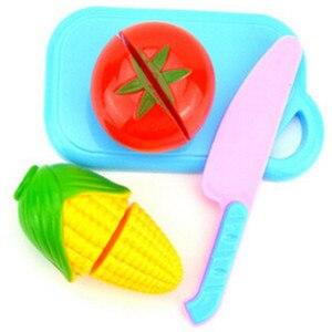 Image 5 - 1 مجموعة لعب الأطفال منزل لعبة قطع الفاكهة البلاستيك الخضار المطبخ الطفل الكلاسيكية الاطفال اللعب التظاهر Playset ألعاب تعليمية