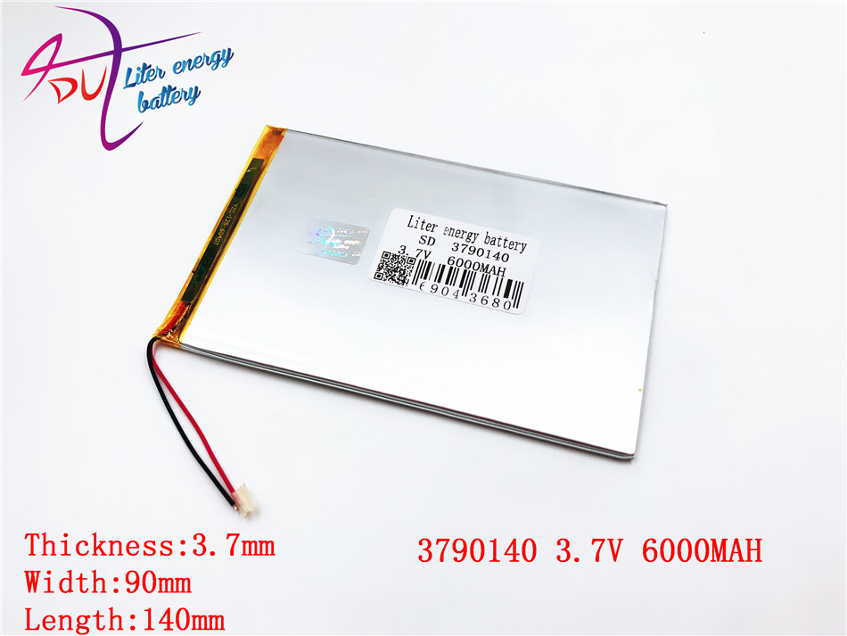Large Capacity 3.7 V Tablet Battery 6000 Mah Each Brand Tablet Universal Rechargeable Lithium Batteries 3790140 3590140