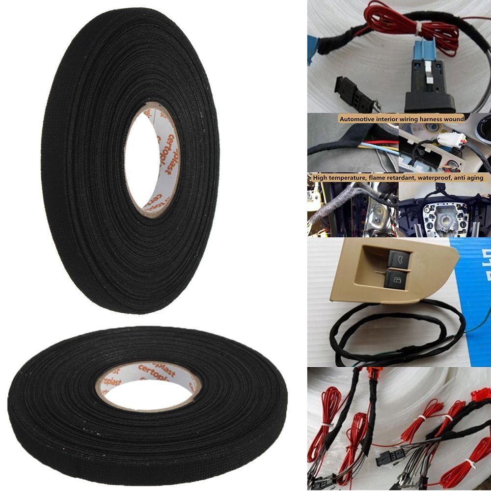 1pc Heat Resistant Wiring Harness Tape Looms Cloth Loom Fabric Adhesive Cable Protection